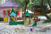 Children playground in the territory of the hotel